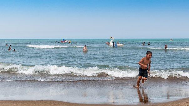 Beach, Tipaza, Alger, Algeria, Summer, Sun, Sky, Swim
