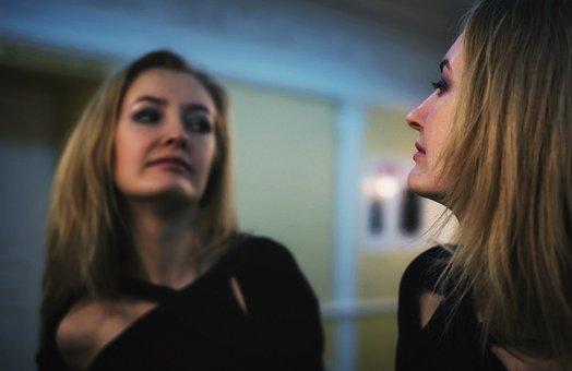 Girl, Blonde, Theatre, Mirror, Reflection, Person