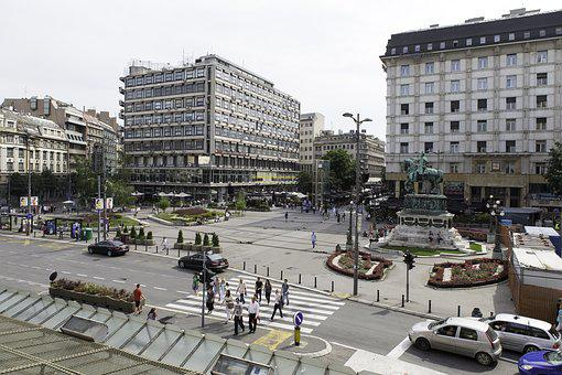 Belgrade, Serbia, Republic Square, Buildings