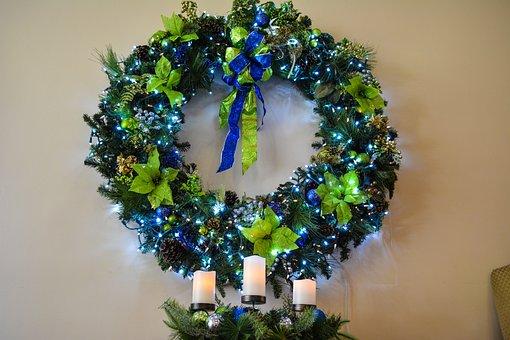 Christmas Wreath, Wreath, Holiday, Christmas