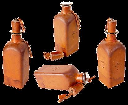 Bottle, Clay Bottle, Cork, Vessel, Wine, Ceramics