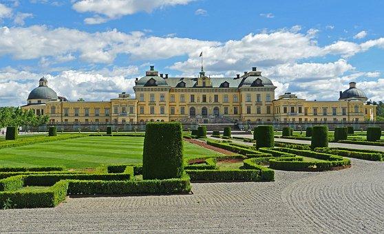 Drottningholm Palace, Garden Side, Schlossgarten
