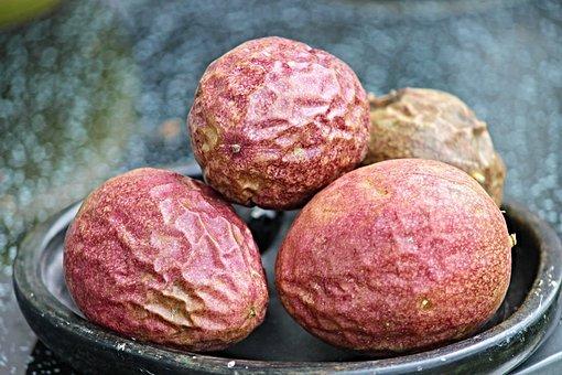 Passion Fruits, Passion Fruit, Passiflora Edulis, Fruit