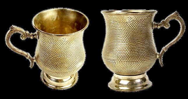 Gilding Cup, Mug, Tableware, Elegant, Glass, Hammered