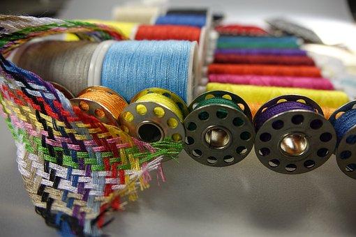 Handarbeiten, Sew, Hand Labor, Coiled, Colorful, Thread