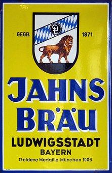 Email Sign, Jahnsbräu, Beer, Ludwig Town Of