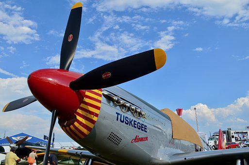 P-51, Mustang, Fighter, Tuskegee, Plane, Military