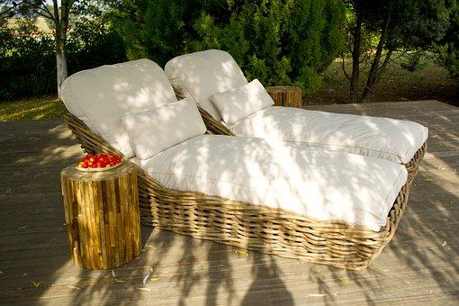 Sunbeds, Summer, Relax, Peace, Hotel, Sunbathing