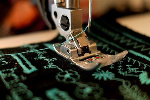 Sew, Sewing Machine, Presser Foot, Hand Labor, Fabric