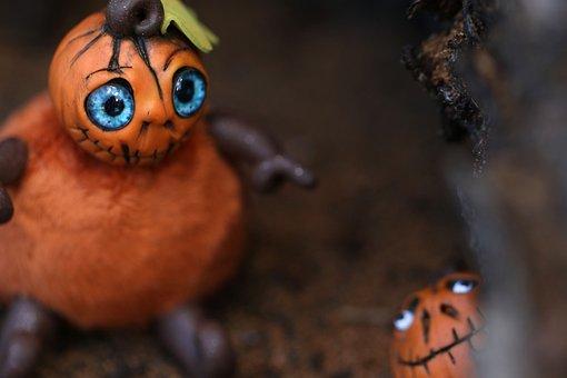 Pumpkin, Halloween, Figures, Miniatures, Orange