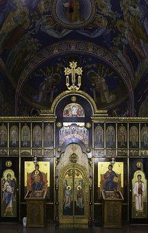 Belgrade, Serbia, St Sava Chapel, Altar Screen