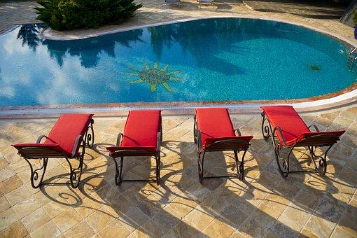 Sunbeds, Pool, Holiday, Peace, Health, Swim, Relax