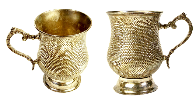 Gilding Cup, Mug, Tableware, Elegant, Glass, Hammered