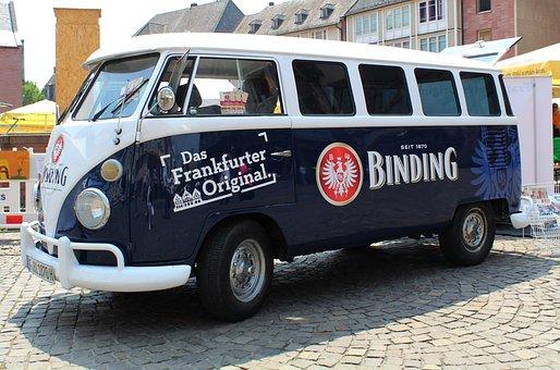 Vw Bus, Advertising, Transporter, Oldtimer, Transport