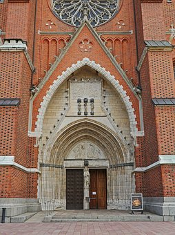 Main Portal, Uppsala Cathedral, Brick Gothic, Rosette
