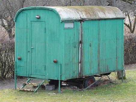Bauwagen, Wood Car, Circus Wagon, Accommodation