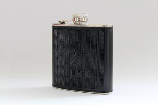 Hip Flask, Whisky, Glass, Alcohol, Drink, Brandy