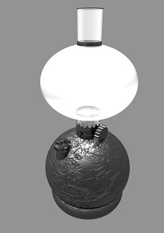 Oil, Lamp, Paraffin Lamp, Light, Burn, Glow, Metal