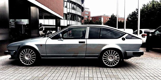Alpha, Gtv, Old, Car, Style, Italian