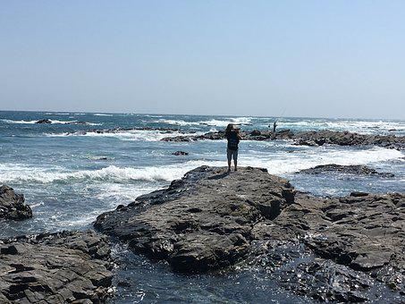 Sea, Coast, Senjojiki, Japan, Wakayama, Shirahama