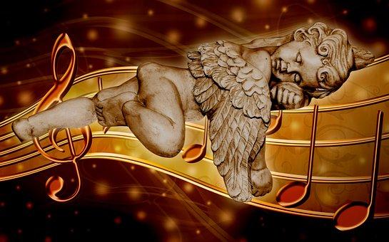 Angel, Dream, Music, Sleep, Figure, Mood, Fantasy