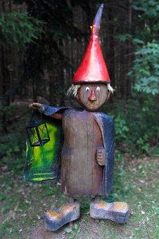 Wood Little Man, Holzfigur, Fairy Tales