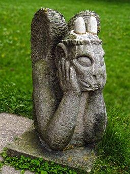 Figure, Fantasy Figure, Gargoyle, Sculpture
