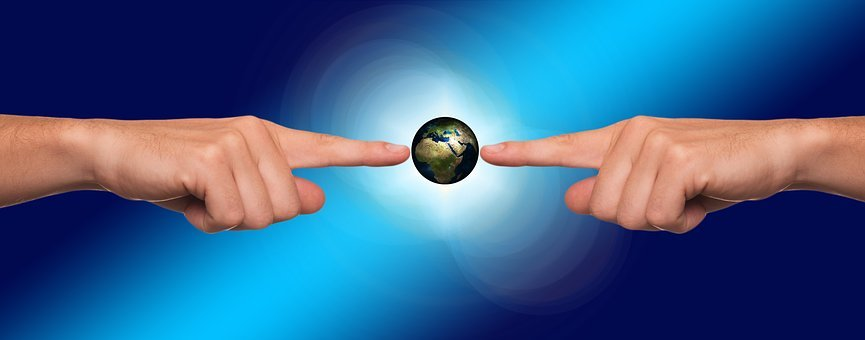 Together, Hands, Earth, Human, Silhouettes, Global