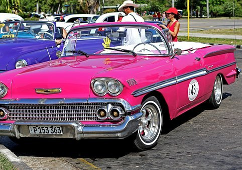 Cuba, Car, Retro, Vintage, Havana, Caribbean, American