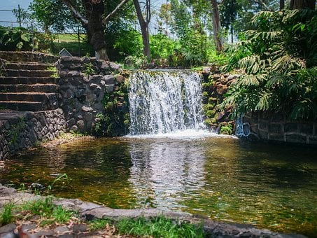 Amatzicalli, Waterfall, Artificial, Metepec, Atlixco