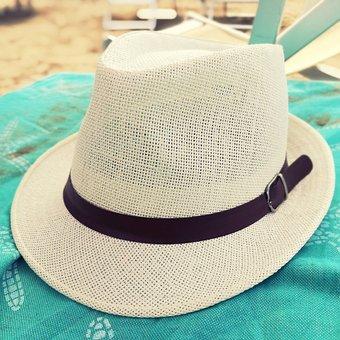 Hat, Beach, Sun, Sea, Chairs, Sarong, Towel, Sand