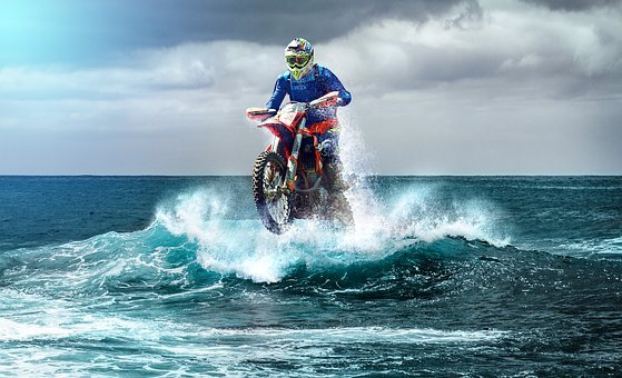 Motocross, Enduro, Wave, Surfers, Racing
