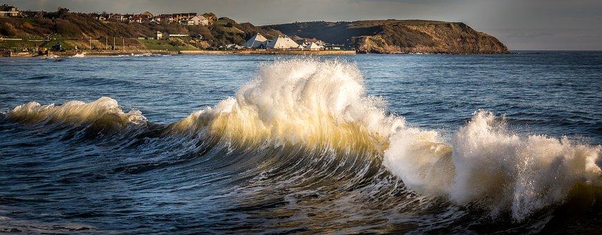 Wave, Seascape, Scarborough, Yorkshire, Wave Break