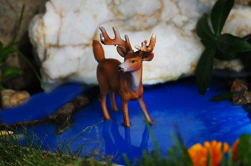Animal, Toy, Still Life, Deer, Doe, Bob Cat