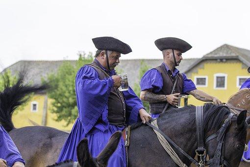 Puszta, Hungary, Horse Farm, Thirsty Horsemen