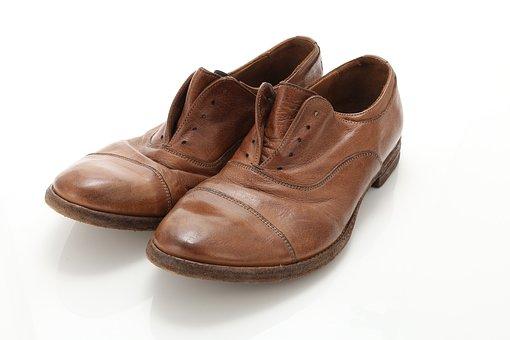 Leather Shoes, Vintage, Wash, Wrinkles, Shoes