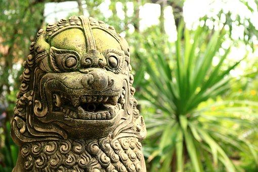 Lion, Statue, Zoo, Parks