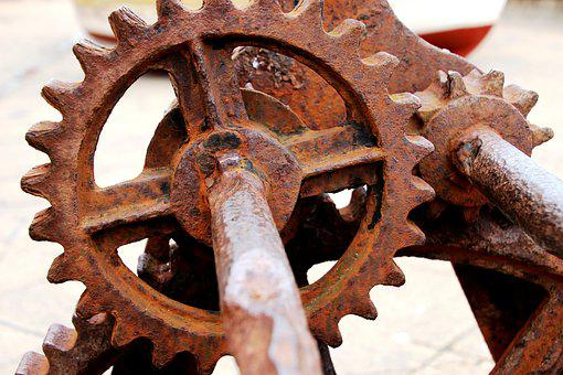 Rusty, Cogs, Metal, Old, Machinery, Machine, Vintage