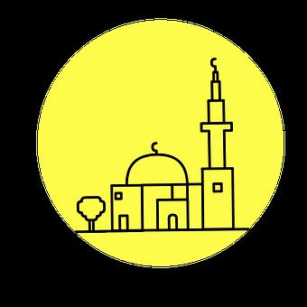 Mosque, Cut Out, Silhouette, Minaret, Middle East
