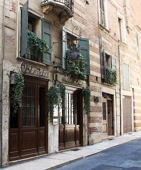 Verona, Italy, City, Osteria, Restaurant, Road, Via