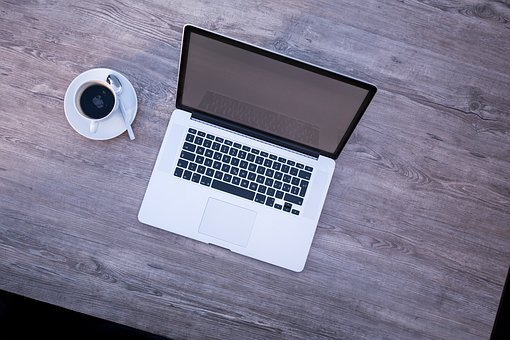 Laptop, Macbook, Open, Mockup, Coffee, Hell, Screen