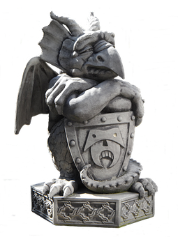 Sculpture, Gnome, Isolated, Gargoyle, Griffin