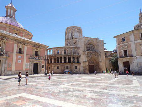Spain, Value, Piazza, Cathedral, Valencia, Catredal