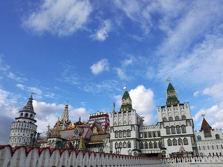 Moscow, Izmailovo, The Kremlin, Architecture
