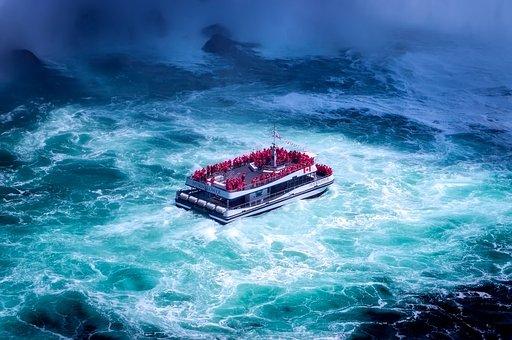 Niagara Falls, Canada, Tourism, Boat, Tour Boat, Water