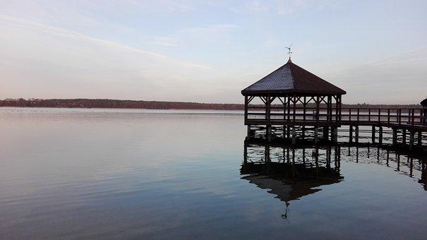Lake, View, Water, Footbridge, Bridge, West