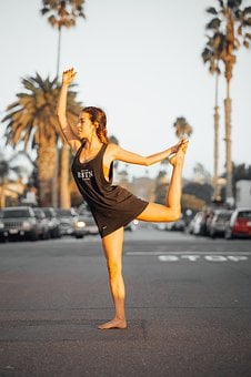 Yoga, Dance, Ballet, Sunset