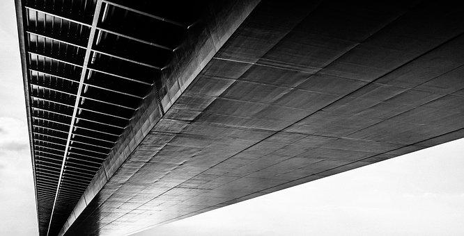 Germany, Bridge, Architecture, Rhine, Steel Structure
