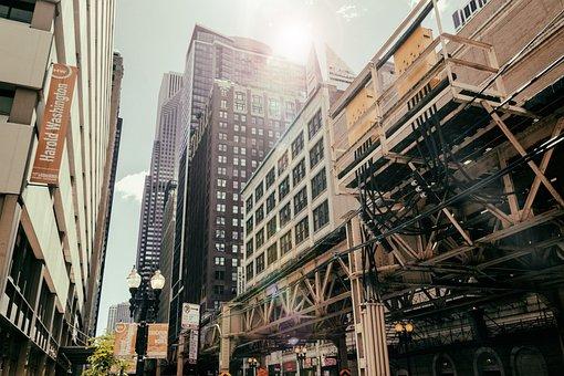 Chicago, Big City, Usa, Illinois, America, City