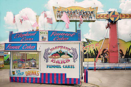 Carnival, Summer, Concession Stand, County Fair, Fair